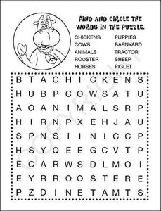 25 Pack - Animals on The Farm Kid's Educational Coloring & Activity Books - ZoCo Products