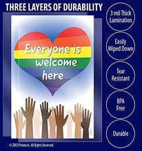 "Load image into Gallery viewer, Everyone is Welcome Here Poster - Diversity Poster - 12""x18"" - Laminated"
