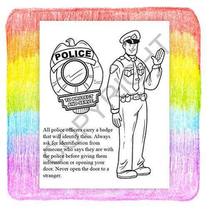25 Pack - A Visit to The Police Station - Kid's Educational Coloring & Activity Books - ZoCo Products