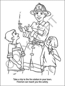25 Pack - Fire Safety Kid's Educational Coloring & Activity Books - ZoCo Products