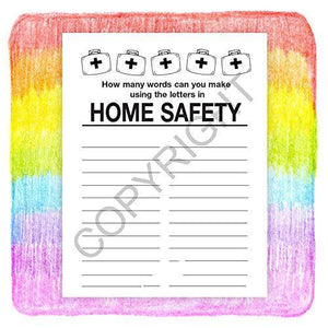 25 Pack - Home Safety Kid's Educational Coloring & Activity Books - ZoCo Products