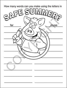 25 Pack - Have a Safe Summer - Kid's Coloring & Activity Books - ZoCo Products