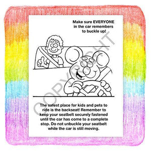 25 Pack - Buckle up for Safety - Kid's Educational Coloring & Activity Books - ZoCo Products