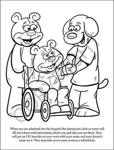 25 Pack - A Beary Special Hospital Kid's Coloring & Activity Books - ZoCo Products