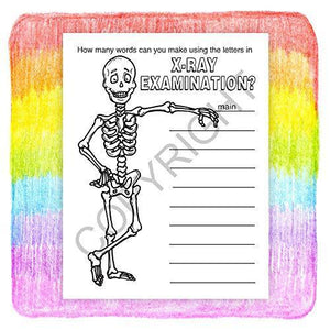 25 Pack - Learn About X-Rays Kid's Coloring & Activity Books - ZoCo Products