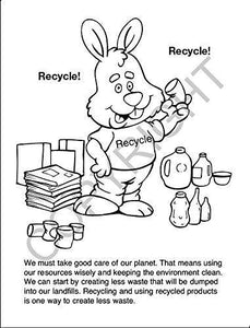 25 Pack - Keep Our Environment Clean - Kid's Coloring & Activity Books - ZoCo Products