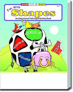 25 Pack - Fun With Shapes Kid's Educational Coloring & Activity Books - ZoCo Products
