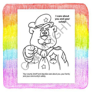 25 Pack - Your Sheriff is Your Friend Kid's Coloring & Activity Books - ZoCo Products