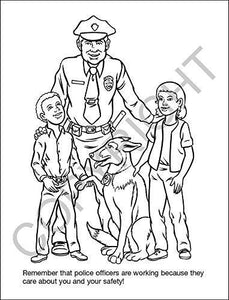 25 Pack - Police Officers Care Kid's Educational Coloring & Activity Books - ZoCo Products