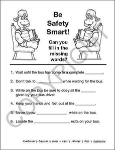 25 Pack - Practice School Bus Safety Kid's Educational Coloring & Activity Books - ZoCo Products