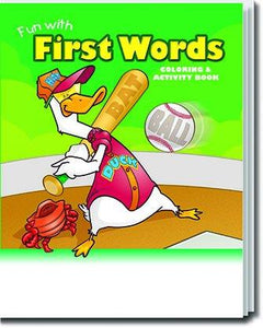 25 Pack - Fun With First Words Kid's Educational Coloring & Activity Books - ZoCo Products