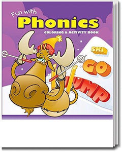 25 Pack - Fun With Phonics Kid's Educational Coloring & Activity Books - ZoCo Products