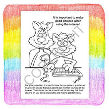 Load image into Gallery viewer, 25 Pack - Internet Safety Kid's Educational Coloring & Activity Books - ZoCo Products