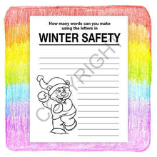 Load image into Gallery viewer, 25 Pack - Make Winter and Holidays Safe Kid's Coloring & Activity Books - ZoCo Products