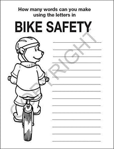 25 Pack - Practice Bike Safety Kid's Educational Coloring & Activity Books - ZoCo Products