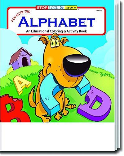 25 Pack - Fun With The Alphabet Kid's Educational Coloring & Activity Books - ZoCo Products