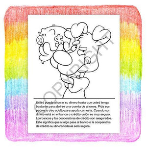 25 Pack - Be Smart, Save Money Kid's Coloring & Activity Books - Spanish Version (en Español) - ZoCo Products