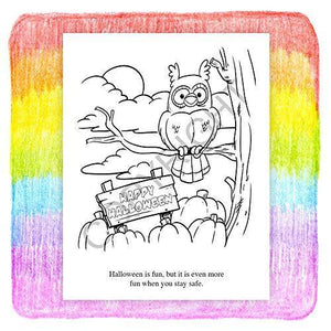 25 Pack - Halloween Safety - Kid's Educational Coloring & Activity Books - ZoCo Products