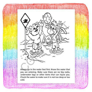 25 Pack - Pool and Water Safety Kid's Educational Coloring Books - ZoCo Products