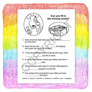 25 Pack - Don't Play with Guns - Kid's Gun Safety Coloring & Activity Books - ZoCo Products