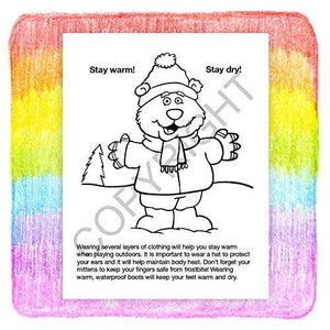 25 Pack - Make Winter and Holidays Safe Kid's Coloring & Activity Books - ZoCo Products