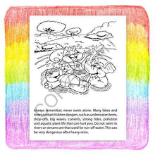 Load image into Gallery viewer, 25 Pack - Pool and Water Safety Kid's Educational Coloring Books - ZoCo Products