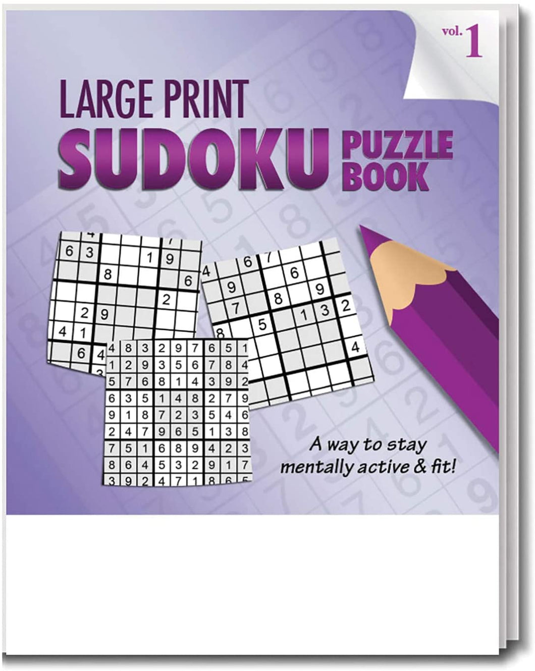 Safety Magnets Large Print Sudoku Puzzle Books for Seniors in Bulk (25 Pack) - Volume 1