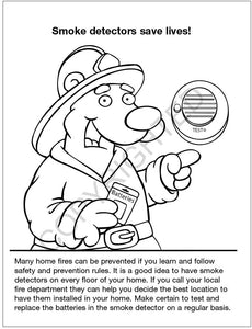 Practice Fire Safety Kid's Coloring & Activity Books in Bulk (Quantity of 250) - Customize with Your Information - Fire Department Giveaway