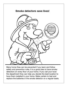 25 Pack - Practice Fire Safety Kid's Educational Coloring & Activity Books - ZoCo Products