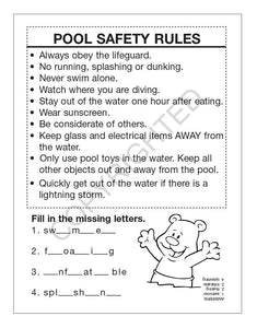 25 Pack - Pool Safety Kid's Coloring & Activity Books - ZoCo Products