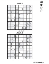 Load image into Gallery viewer, Safety Magnets Large Print Sudoku Puzzle Books for Seniors in Bulk (25 Pack) - Volume 1