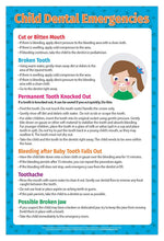 Load image into Gallery viewer, Kids Dental Emergencies Poster - 17x22 - Laminated - ZoCo Products