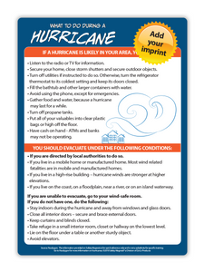 "Natural Disaster Fridge Magnets - Tornado, Hurricane or Earthquake (5""x7"") Min. Order Qty: 100"