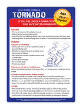 "Load image into Gallery viewer, Natural Disaster Fridge Magnets - Tornado, Hurricane or Earthquake (5""x7"") Min. Order Qty: 100"