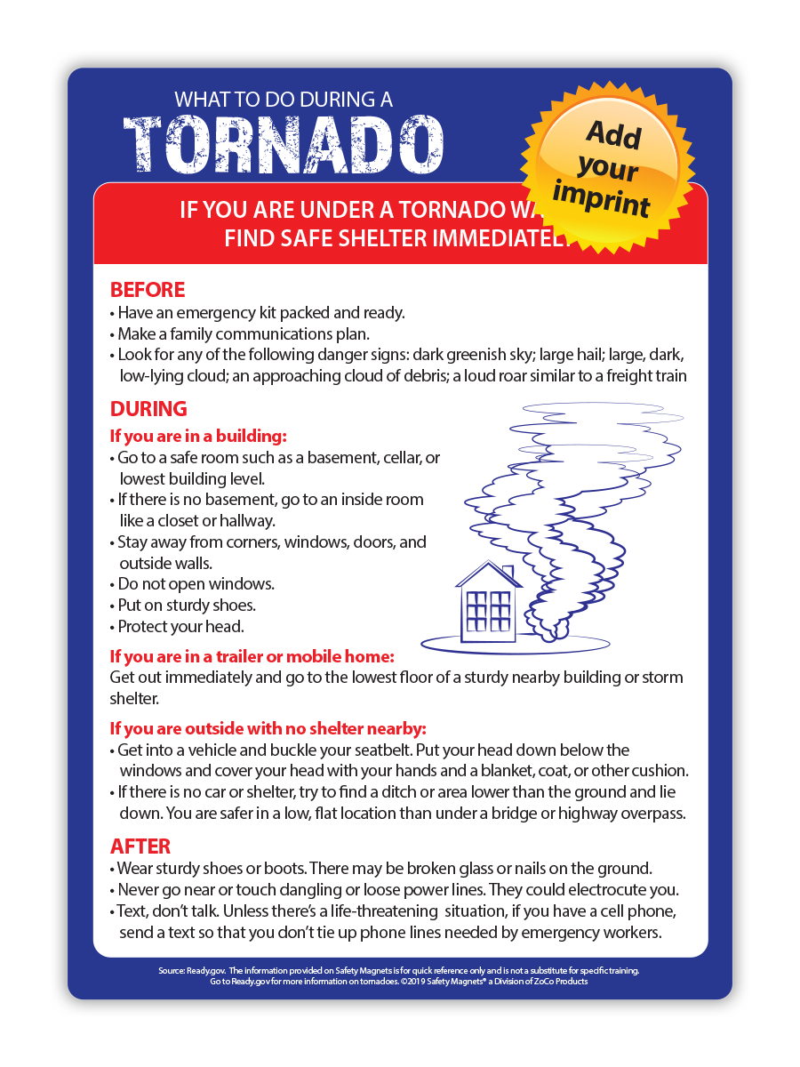 Natural Disaster Fridge Magnets - Tornado, Hurricane or Earthquake (5