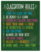 "Load image into Gallery viewer, Classroom Rules Poster - 17""x22"" - Laminated"