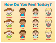"Load image into Gallery viewer, Kids Feelings / Emotions Poster - 17""x22"" - Laminated"