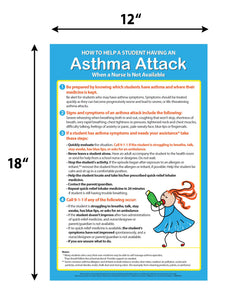 "Asthma Attack Poster - 12""x18"" - Laminated"