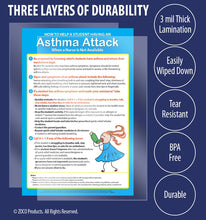 "Load image into Gallery viewer, Asthma Attack Poster - 12""x18"" - Laminated"