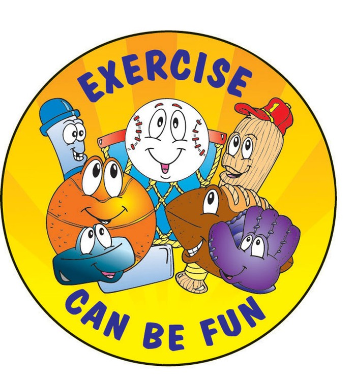 Exercise Can Be Fun Sticker Roll - 400 Stickers - ZoCo Products