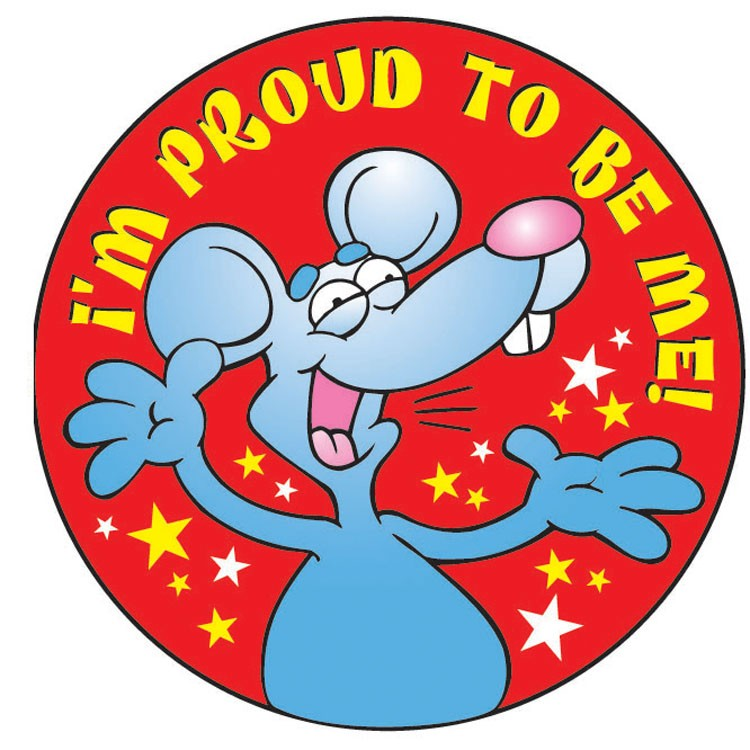 I'm Proud To Be Me! Sticker Roll - 400 Stickers - ZoCo Products