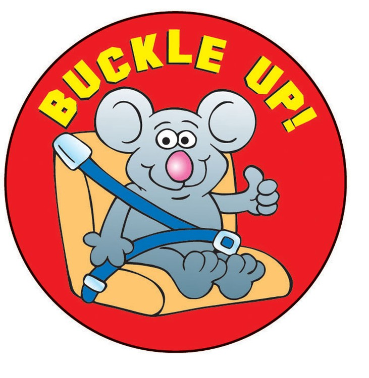 Buckle Up! Sticker Roll - 400 Stickers - ZoCo Products