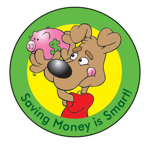 Saving Money is Smart! Sticker Roll - 400 Stickers - ZoCo Products