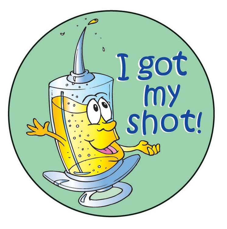 I Got My Shot! Sticker Roll - 400 Stickers - ZoCo Products