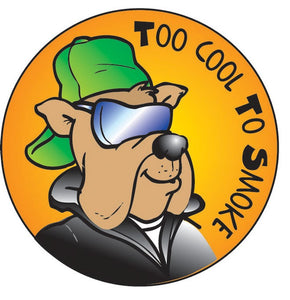 Too Cool To Smoke Sticker Roll - 400 Stickers - ZoCo Products