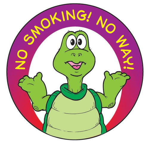 No Smoking! No Way! Sticker Roll - 400 Stickers - ZoCo Products