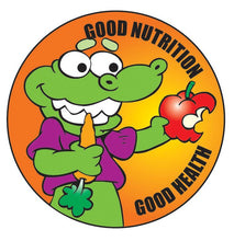 Load image into Gallery viewer, Good Nutrition Good Health Sticker Roll - 400 Stickers - ZoCo Products