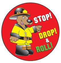 Load image into Gallery viewer, Stop! Drop! & Roll! Sticker Roll - 400 Stickers - ZoCo Products