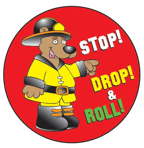 Stop! Drop! & Roll! Sticker Roll - 400 Stickers - ZoCo Products