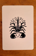 Load image into Gallery viewer, Scorpio Postcard: Zodiac Collection